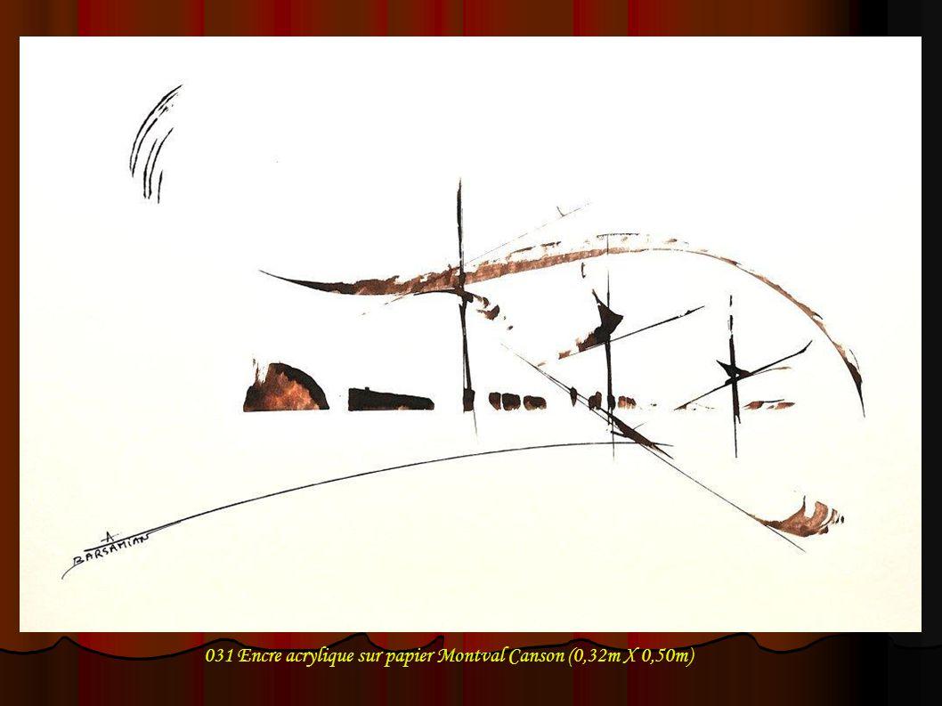 032 Encre acrylique sur papier Montval Canson (0,32m X 0,50m)