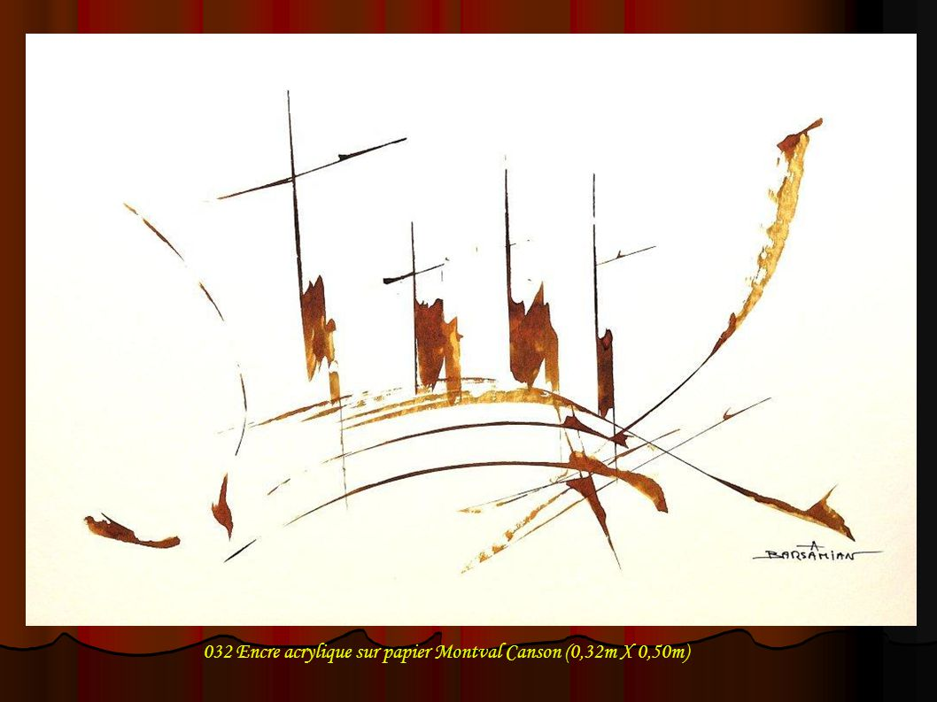 043 Encre acrylique sur papier Montval Canson (0,32m X 0,50m)