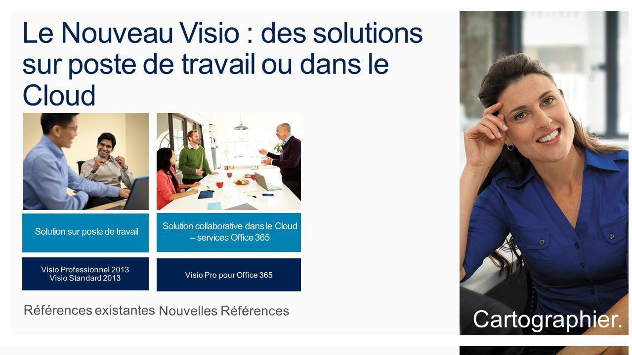Le Nouveau Visio : des solutions sur poste de travail ou dans le Cloud Cartographier.