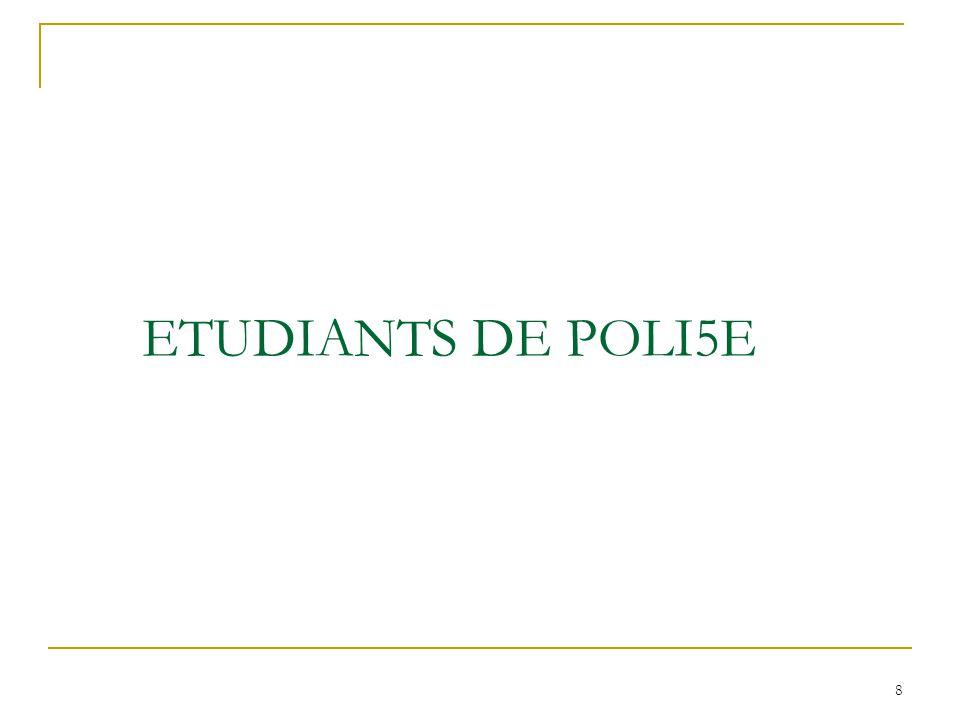 ETUDIANTS DE POLI5E 8