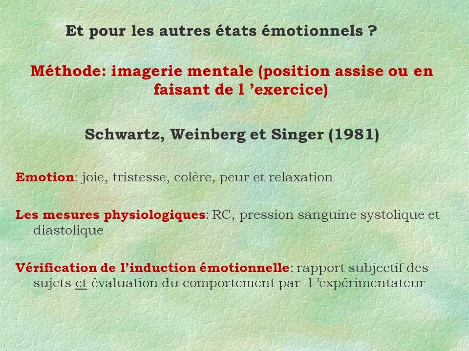 Et pour les autres états émotionnels .