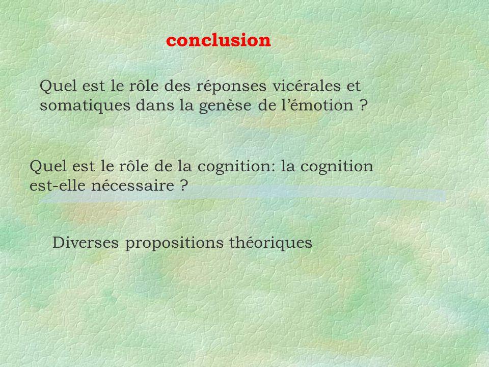 Quel est le rôle de la cognition: la cognition est-elle nécessaire .