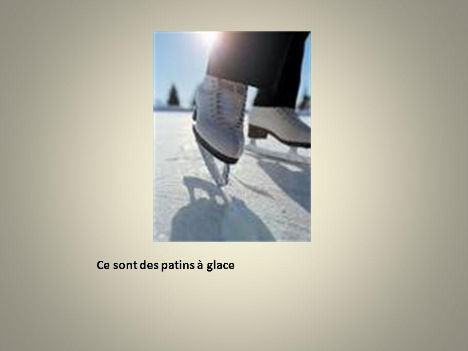 Ce sont des patins à glace