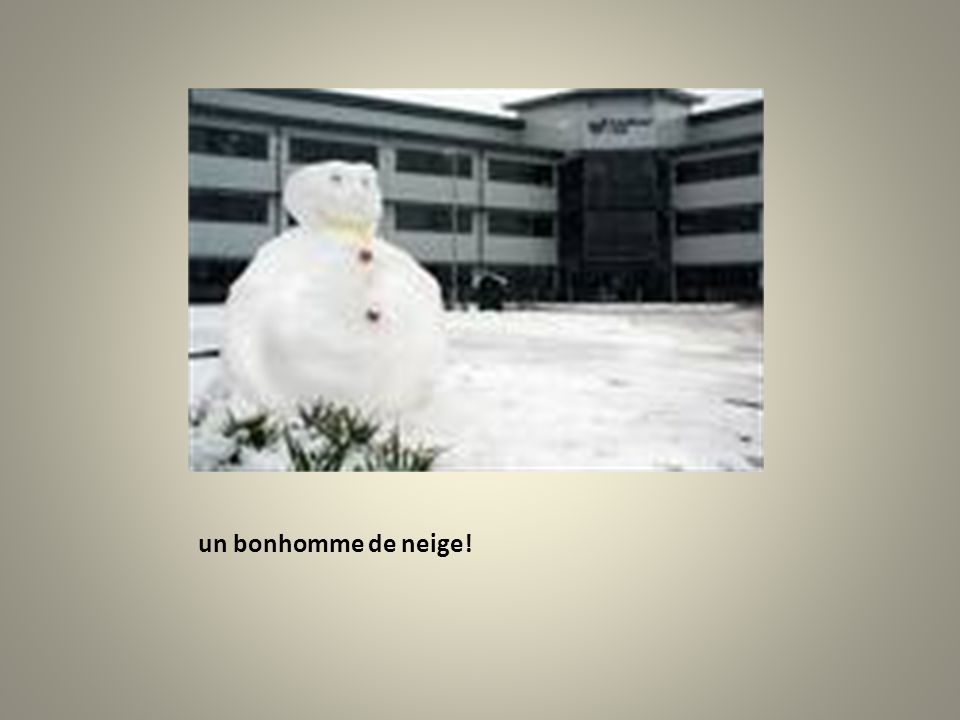 Elle lance une boule de neige à qui?
