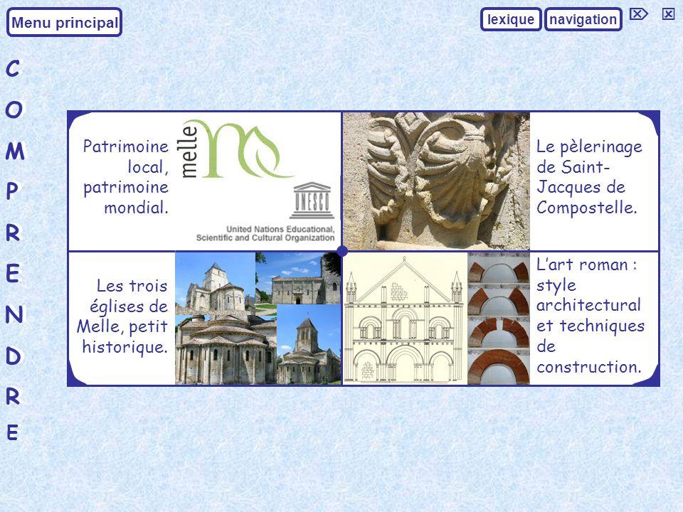COMPRENDRECOMPRENDRE COMPRENDRECOMPRENDRE Menu principal navigationlexique Les trois églises de Melle, petit historique.
