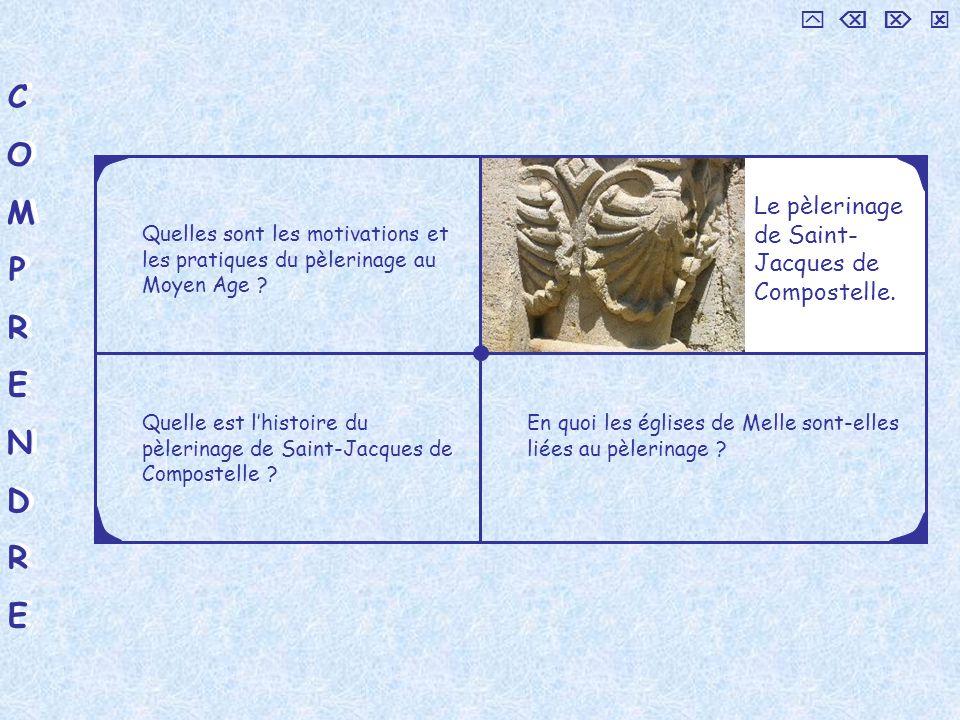 COMPRENDRECOMPRENDRE COMPRENDRECOMPRENDRE Le pèlerinage de Saint-Jacques de Compostelle.
