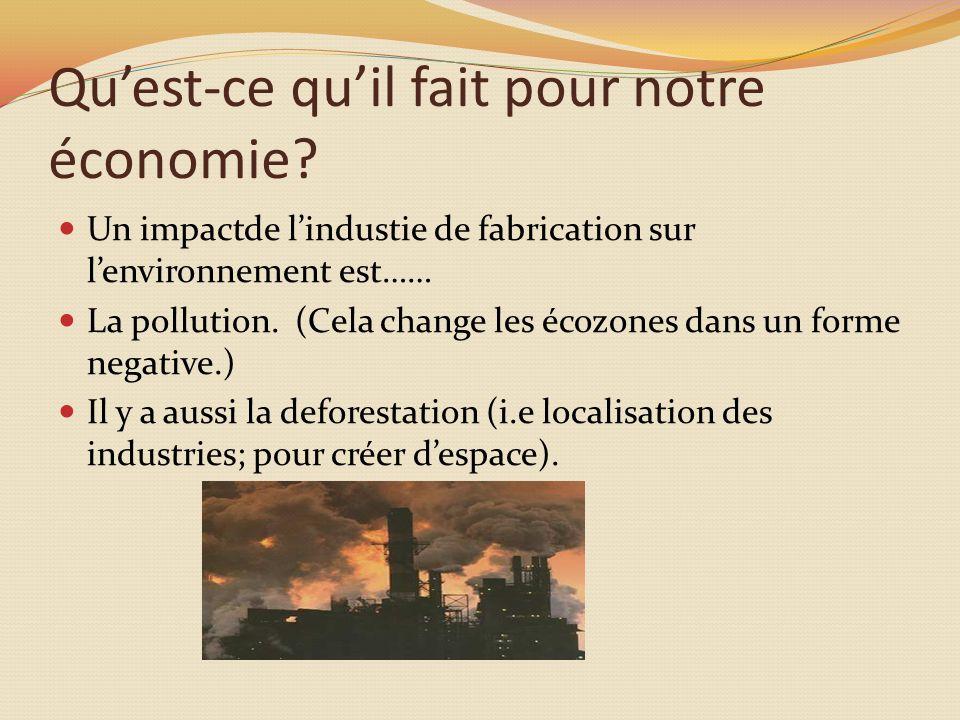 Quest-ce quil fait pour notre économie.