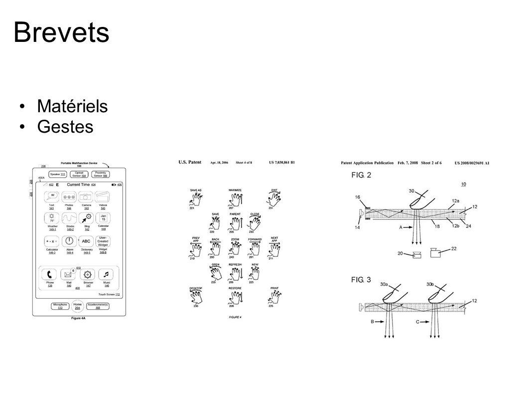 Caractéristiques technologiques Nombre de points de contact Précision du toucher Forme du toucher (pression, angle) Proximité ou axe des Z Discrimination des doigts et des mains Discrimination des utilisateurs Latence Retour de force (vibration) Accessoires (gants, DELs IR, fiducials)
