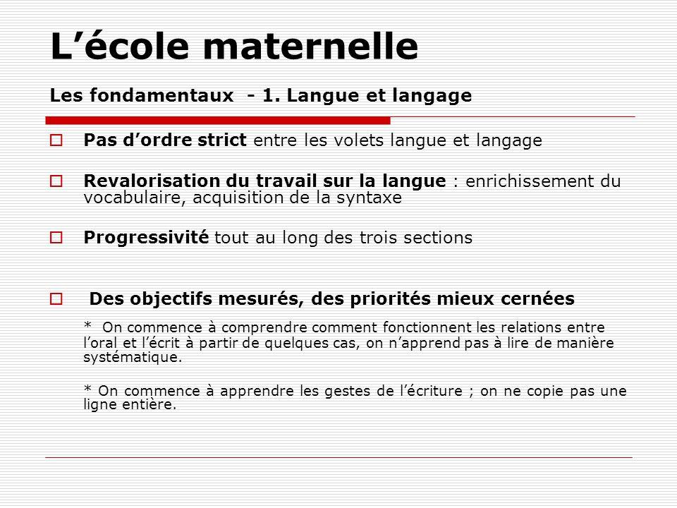 Lécole élémentaire Français - Cycle 2 Une première initiation à 1.