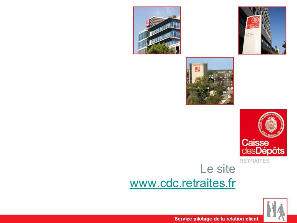 Service pilotage de la relation client Le site www.cdc.retraites.fr www.cdc.retraites.fr