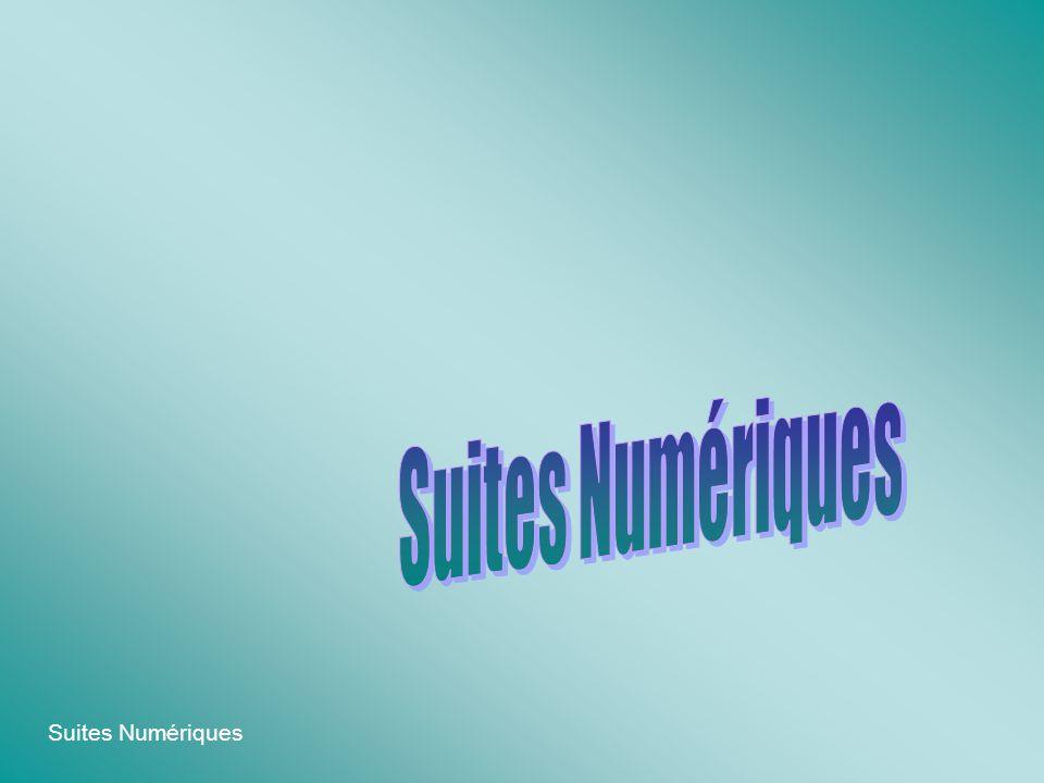 Suites Numériques Deux suites u et v sont dites adjacentes si : La suite u est croissante.