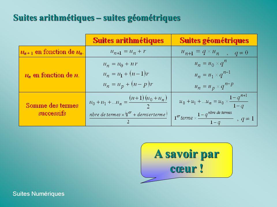 Suites Numériques Suite arithmético-géométrique