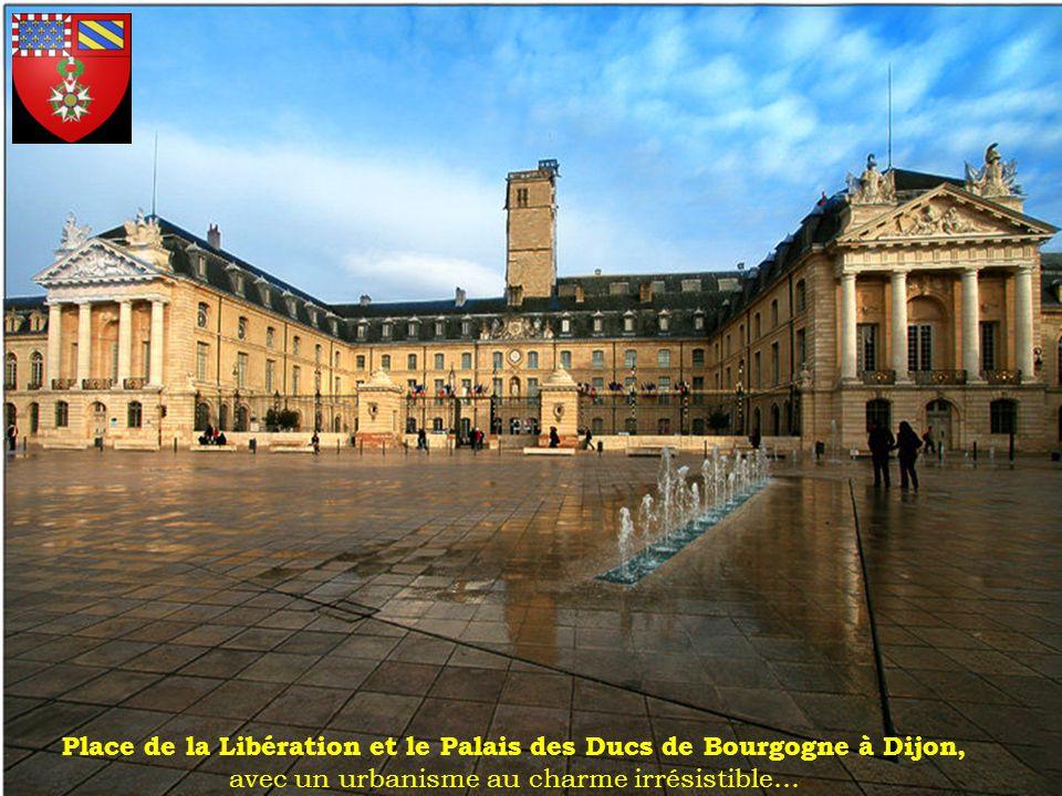 Place de la Libération et le Palais des Ducs de Bourgogne à Dijon, avec un urbanisme au charme irrésistible…