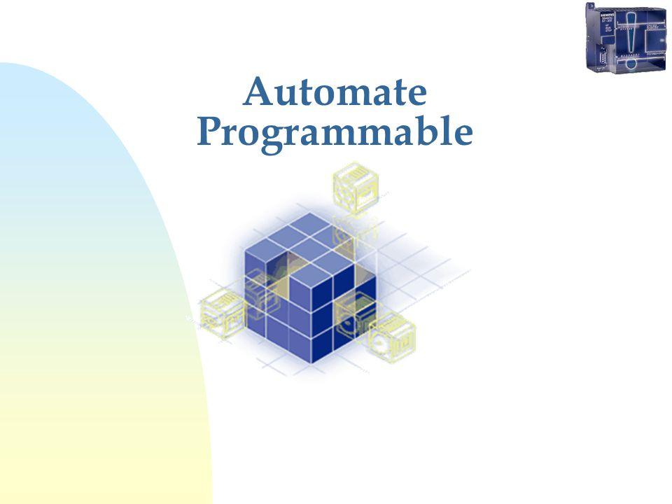 Organisation fonctionnelle Automate non-modulaire Sortie 24 VDC 0,5 A Entrée VDC Entrées - Sorties analogiques Carte EEPROM