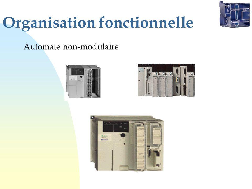 Organisation fonctionnelle Automate non-modulaire