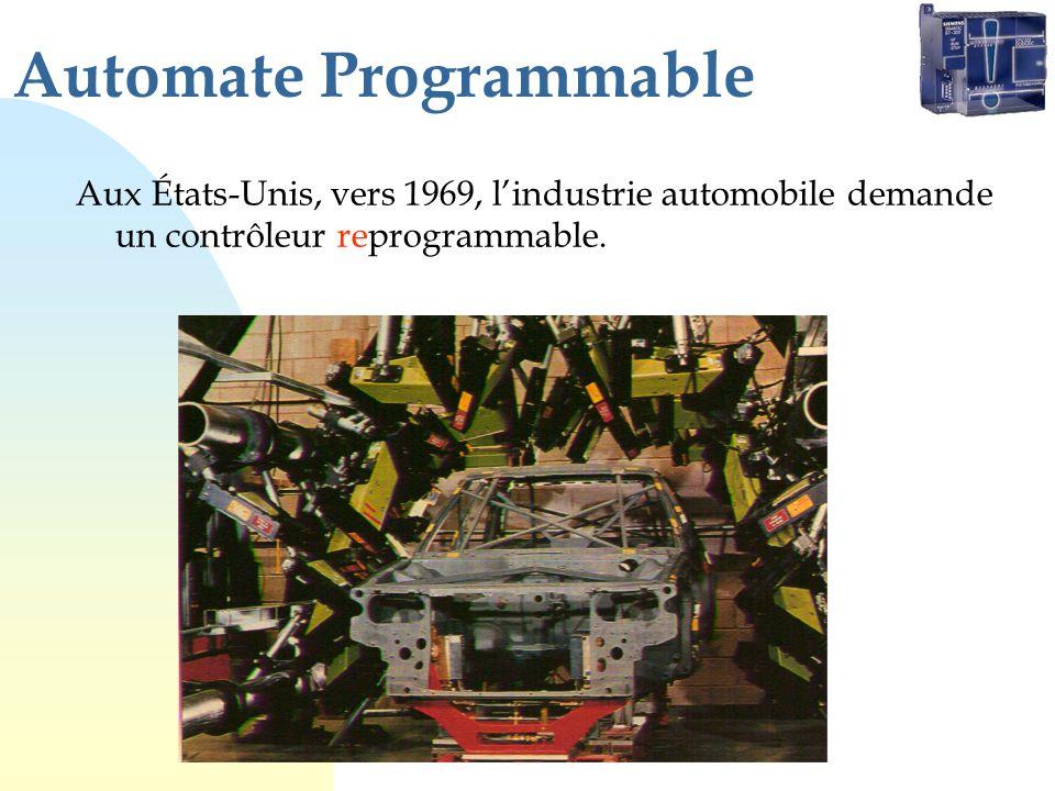 Aux États-Unis, vers 1969, lindustrie automobile demande un contrôleur reprogrammable.