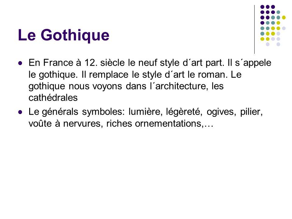 Le Gothique En France à 12. siècle le neuf style d´art part.