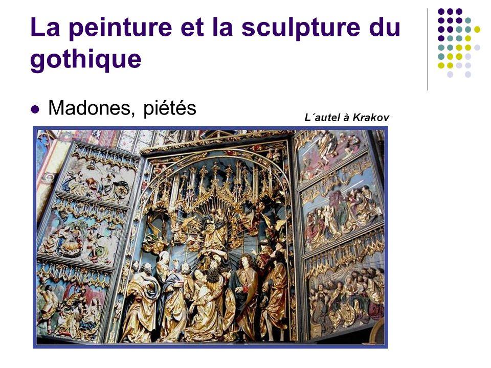La peinture et la sculpture du gothique Madones, piétés L´autel à Krakov