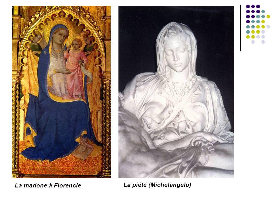 La madone à Florencie La piété (Michelangelo)