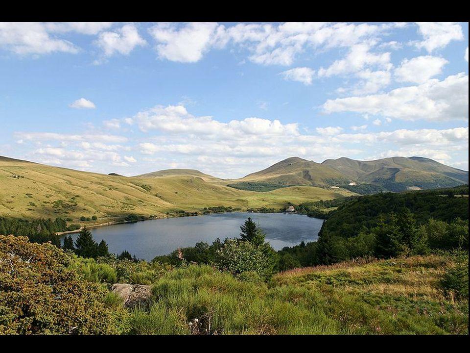 Situé à une altitude de 1 244 m, ce lac de 25 ha est dû à une coulée de lave qui a barré le cours d'un torrent venu du Puy Gros. Il est de forme presq