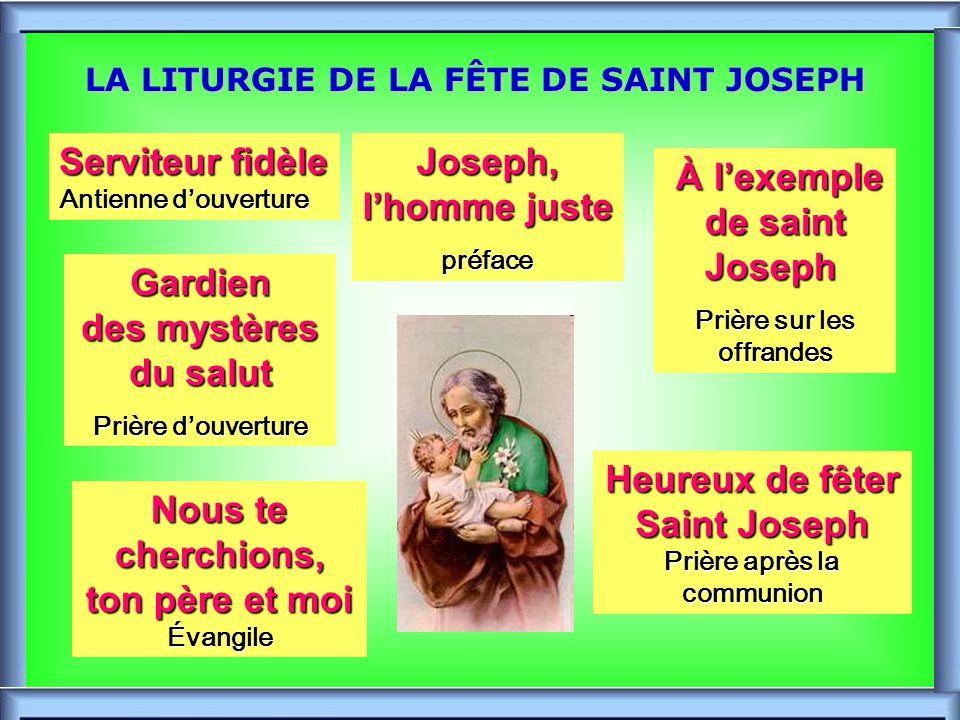 .. FÊTES DE SAINT JOSEPH FÊTES DE SAINT JOSEPH -1-1-1-19 MARS: Joseph, Époux de Marie -1 er MAI: Joseph Ouvrier