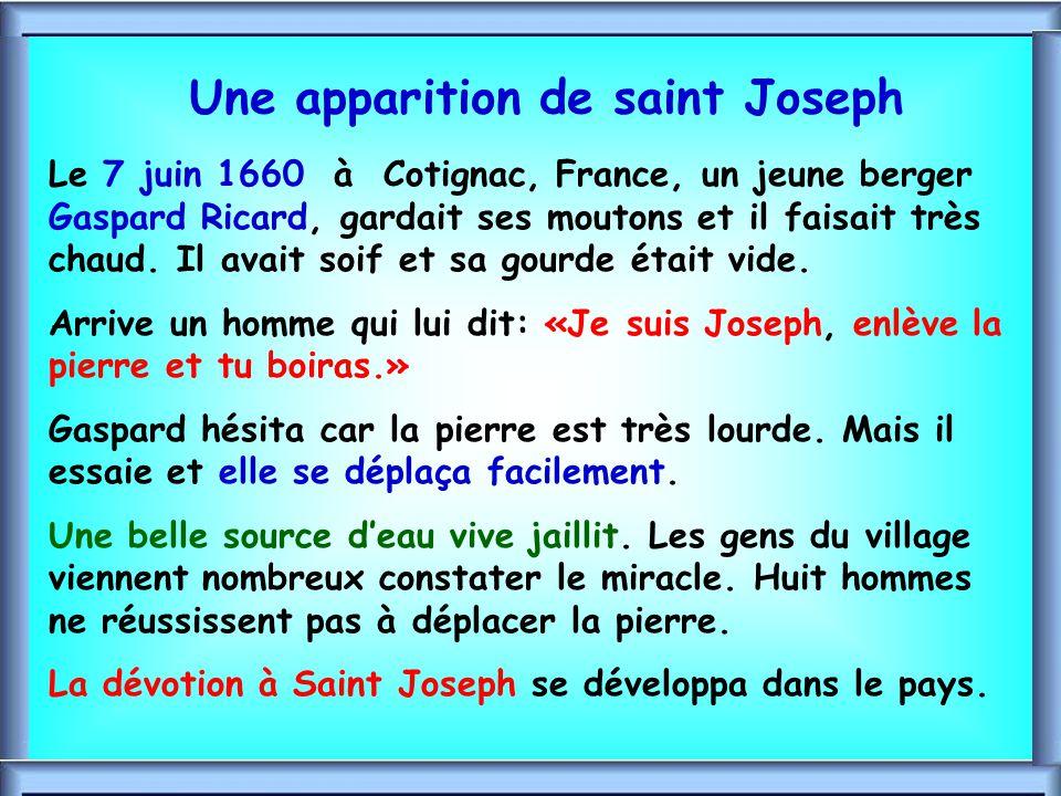 .. Saint Joseph, accorde-nous Saint Joseph, accorde-nous Par JÉSUS et MARIE, de recevoir la vie nouvelle dans lEsprit, de grandir en sagesse et en grâ