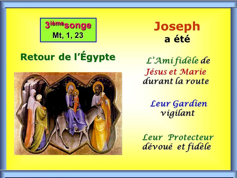 .. 2 ième songe Mt, 2,14 2 ième songe Mt, 2,14 Lève-toi, prends l Enfant et sa Mère et fuis en Égypte UNITÉ et PAIX dans la SAINTE FAMILLE UNITÉ et PA