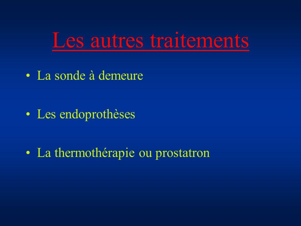Les autres traitements La sonde à demeure Les endoprothèses La thermothérapie ou prostatron