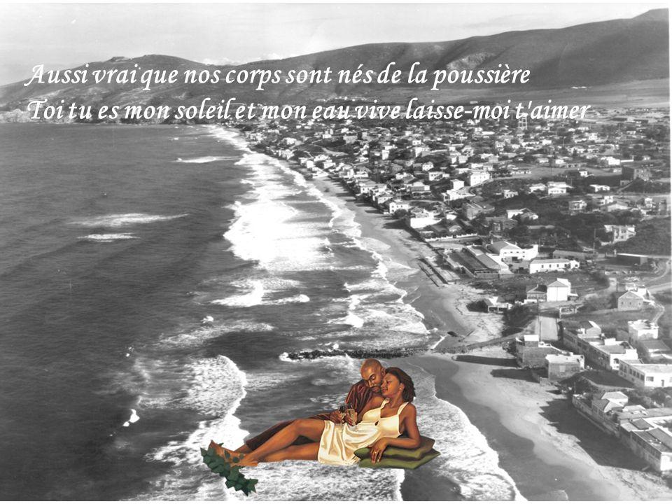Aussi vrai que nos corps sont nés de la poussière Toi tu es mon soleil et mon eau vive laisse-moi t aimer
