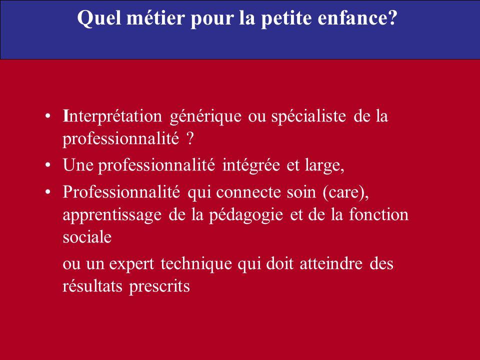 Interprétation générique ou spécialiste de la professionnalité ? Une professionnalité intégrée et large, Professionnalité qui connecte soin (care), ap