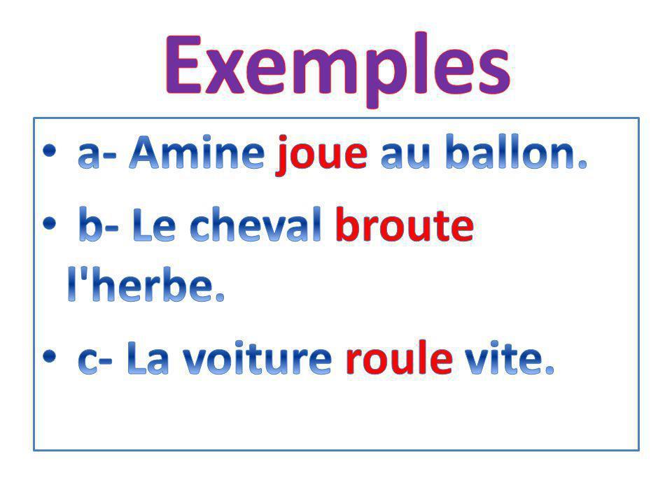 Grammaire Notion de verbe (1 )