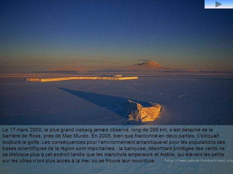 Ventifacts, chaîne des vallées sèches, près de la station scientifique américaine de McMurdo, cette chaîne est une des rares terres déglacées de lAnta