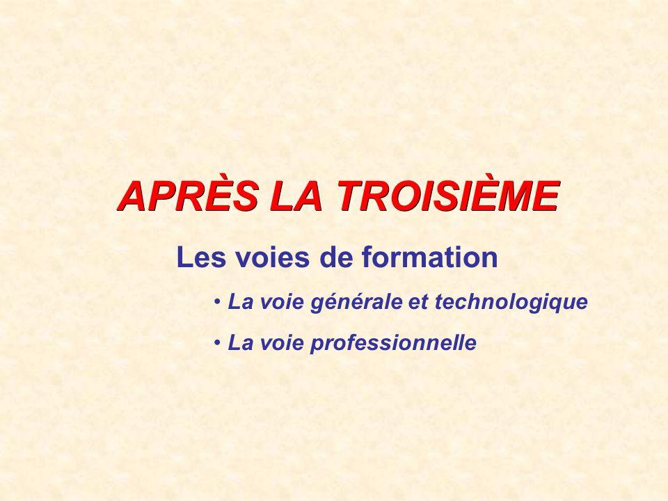 SECONDE PRO Seconde professionnelle T R O I S I E M E SECONDE GT Seconde générale & technologique 1 e PRO TERMINALE PRO CAP 1 CAP 2 12 3 BAC GENERA L BAC TECHNOLOGIQUE BAC PROFESSIONNE L C.A.P.