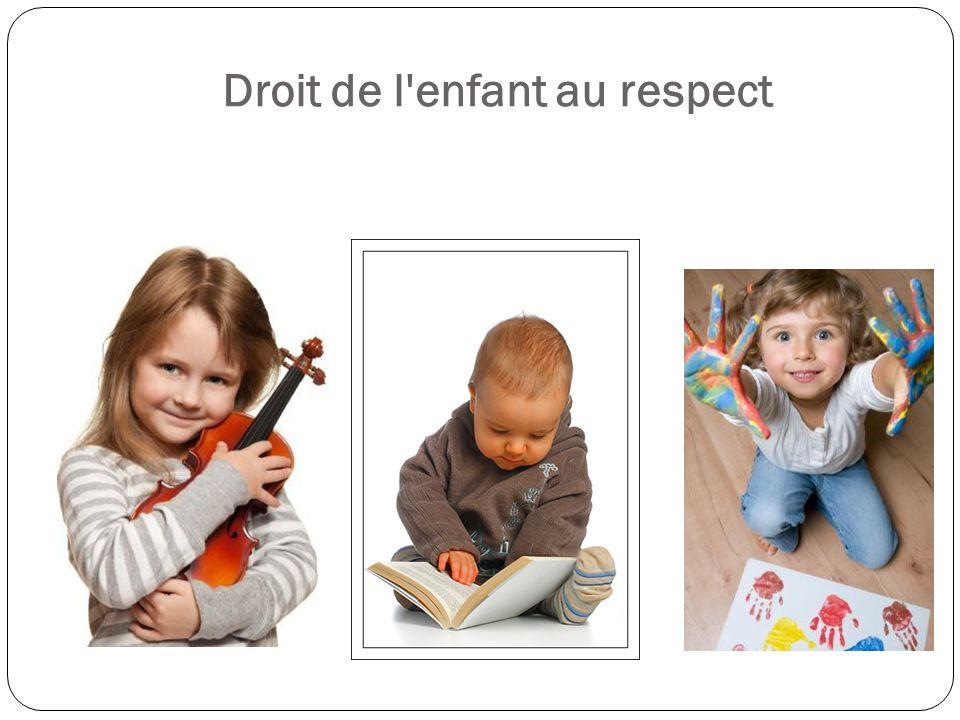 Droit de l'enfant au respect
