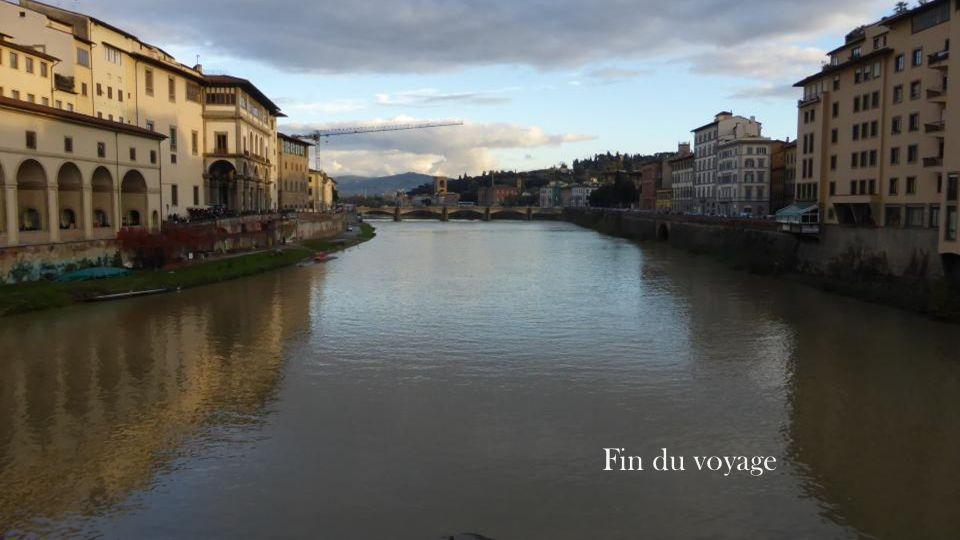 lArno, le pont Vecchio où se succèdent les échoppes