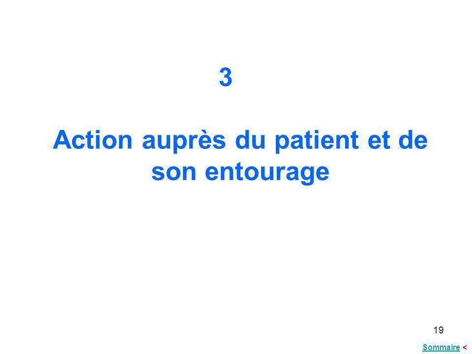 19 Action auprès du patient et de son entourage 3 SommaireSommaire <