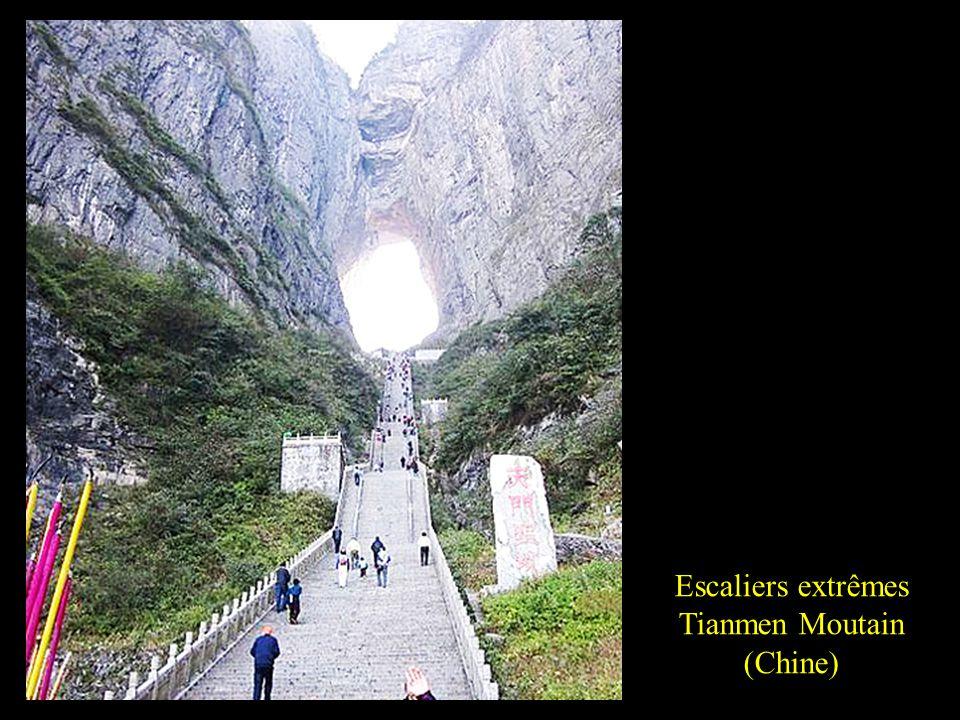 Escaliers extrêmes Tianmen Moutain (Chine)
