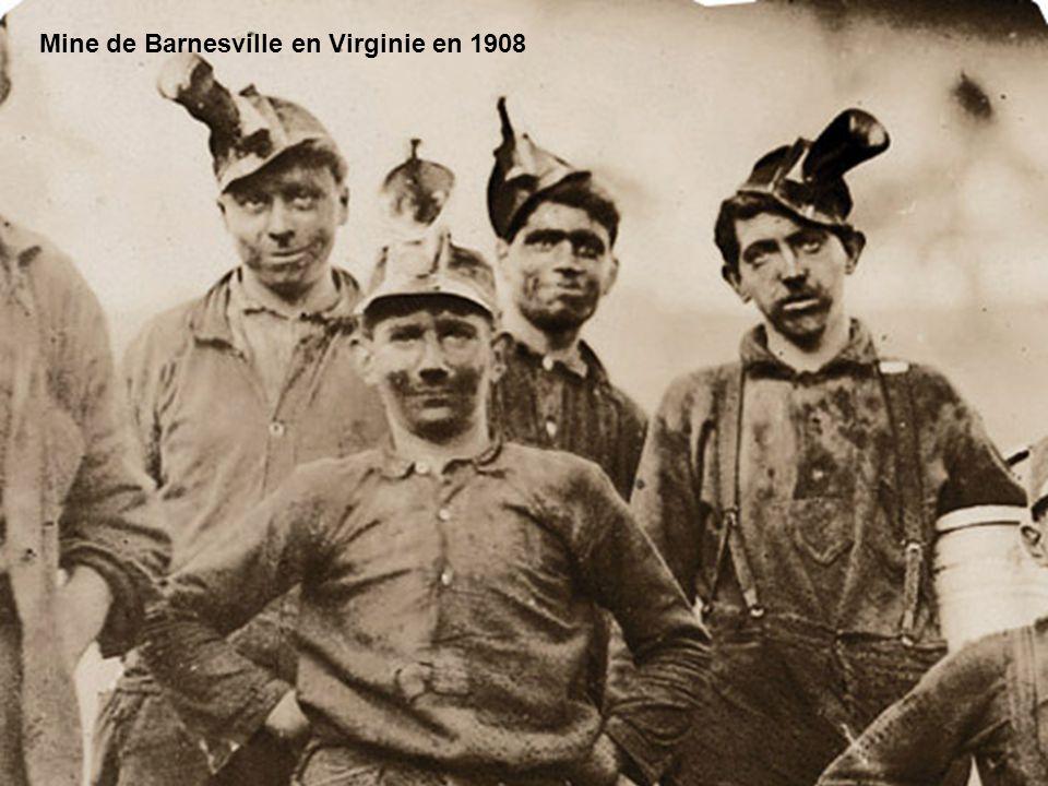 Meneurs de mules à la mine Brow en Virginie en septembre 1908