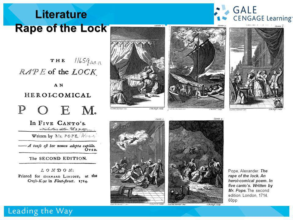 Literature Rape of the Lock Pope, Alexander. The rape of the lock.