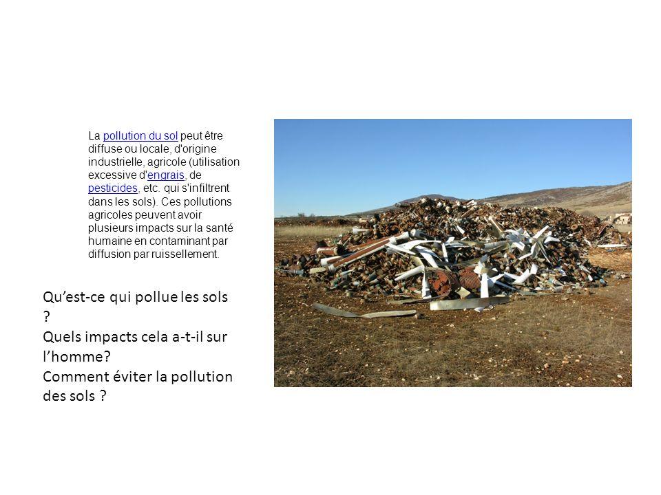 Pollution de lair : Différent effets sur la santé.