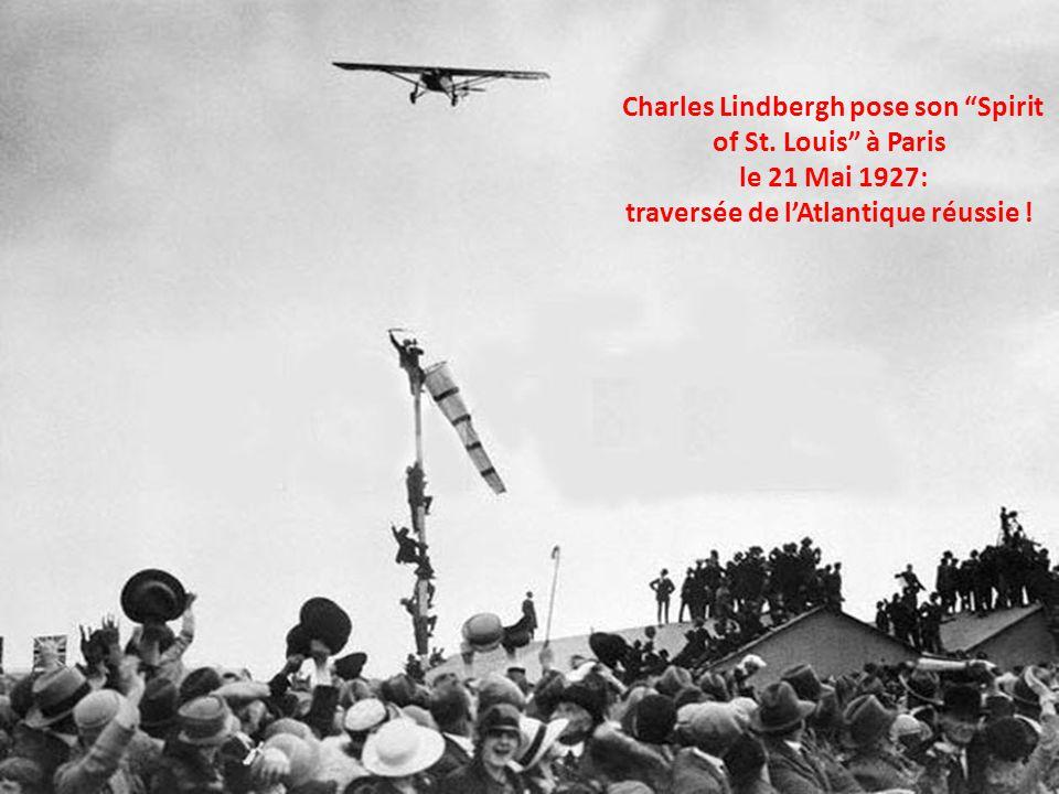 Charles Lindbergh avant sa tentative de traversée de lAtlantique