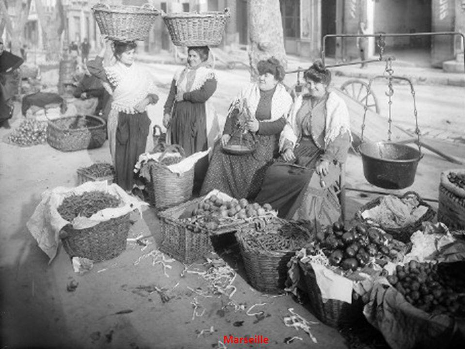 Marseille, Le vieux port en 1900