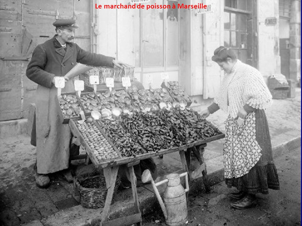 Le marchand de poisson à Marseille