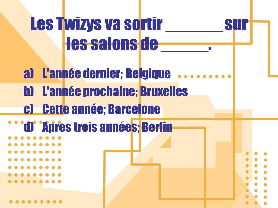 Les Twizys va sortir ______ sur les salons de _____.