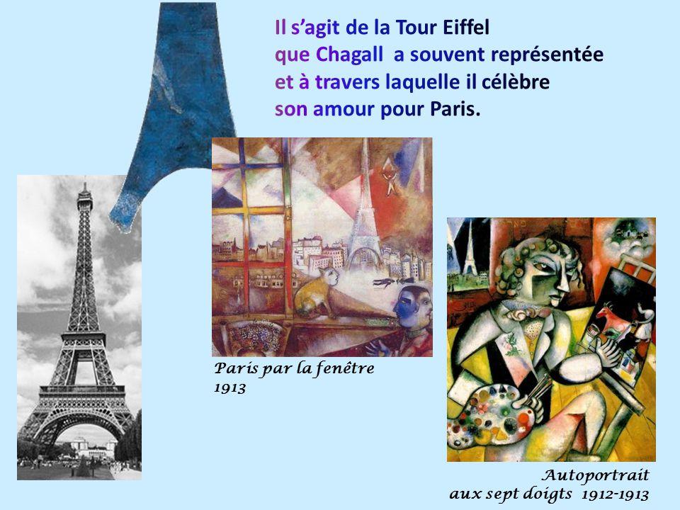 Paris par la fenêtre 1913 Autoportrait aux sept doigts 1912-1913