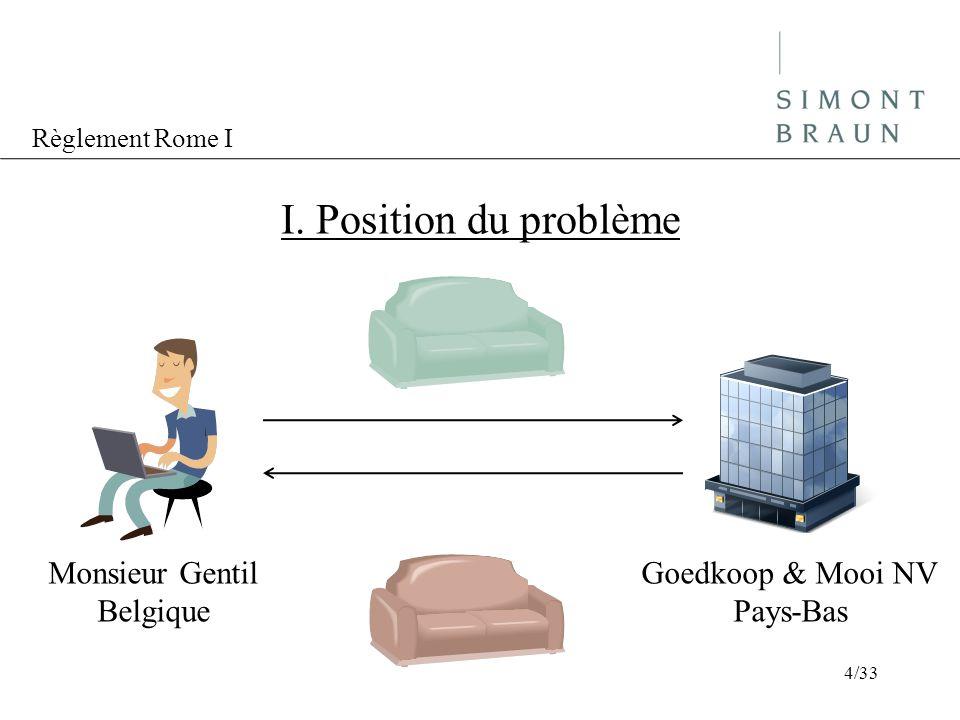 Règlement Rome I I.Position du problème En droit néerlandais, art.