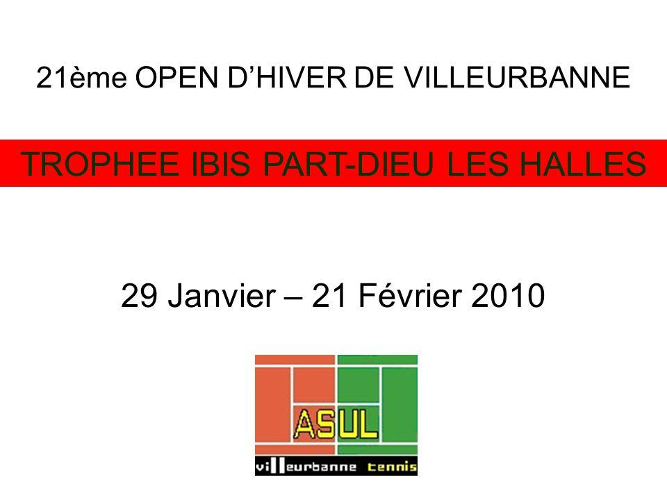 21ème OPEN DHIVER DE VILLEURBANNE TROPHEE IBIS PART-DIEU LES HALLES 29 Janvier – 21 Février 2010