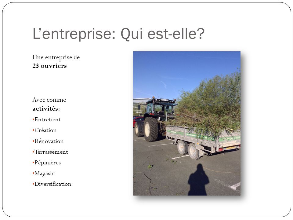 Etude dun chantier: Etat des lieux A Dempierre-les - Bois Dans le département de Doubs (25) 17km de lentreprise