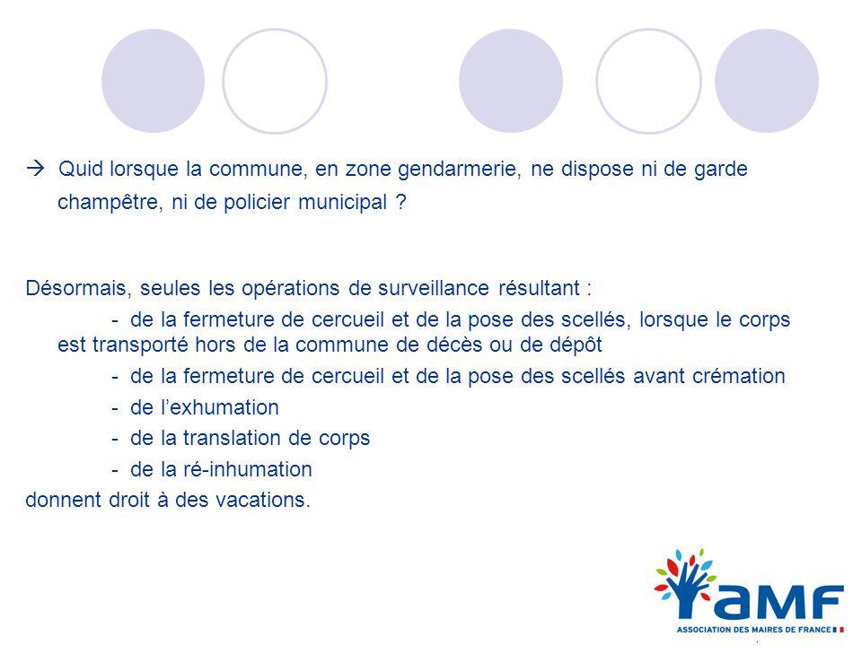 Quid lorsque la commune, en zone gendarmerie, ne dispose ni de garde champêtre, ni de policier municipal ? Désormais, seules les opérations de surveil