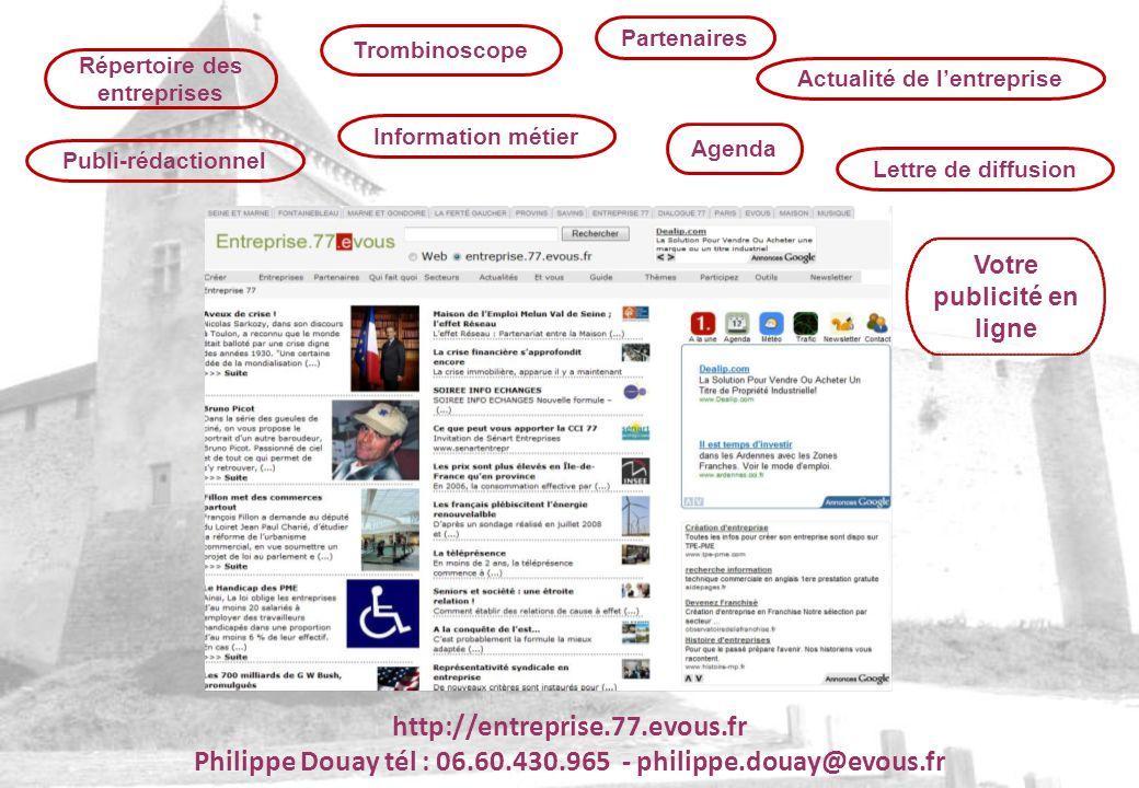 Répertoire des entreprises TrombinoscopeAgenda PartenairesLettre de diffusionPubli-rédactionnelInformation métierActualité de lentreprise Votre public